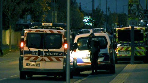 Varios vehículos policiales en la ciudad francesa de Toulouse. Hugues Jeanneau / AFP
