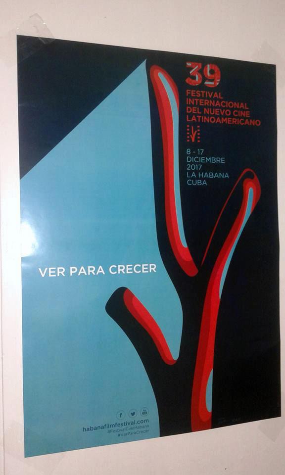 Este año es posible comprar el póster del Festival de Cine de La Habana. Foto: @festivaldelnuevocinelatinoamericano/ Facebook.