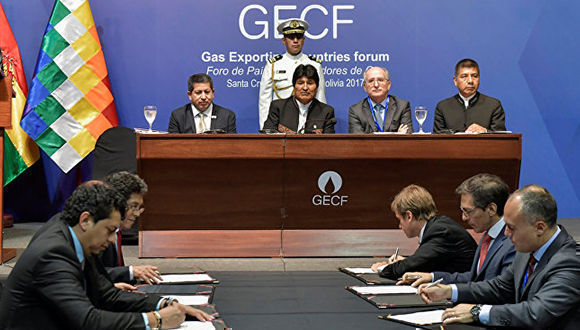 Primer Seminario Internacional del IV Foro de Países Exportadores de Gas. Foto: Freddy Zarco / reuters / Cortesía Presidencia Boliviana