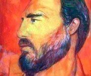 """Fidel"". Obra realizada en óleo sobre tela, e inspirada en la imagen de Fidel. Autor: Servando Cabrera. / Fecha: 1980"