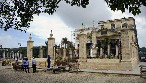 El Templete restaurado. Foto: Alexis Rodríguez/ Habana Radio.