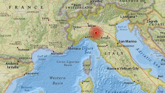 Reportan terremoto de magnitud 4,9 en Italia