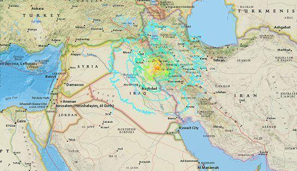 Zonas afectadas por el sismo de magnitud 7,2. Imagen: USGS.