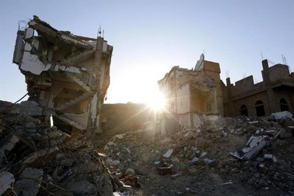 La guerra ha arrasado Yemen. Foto: @teleSURtv/ Twitter.