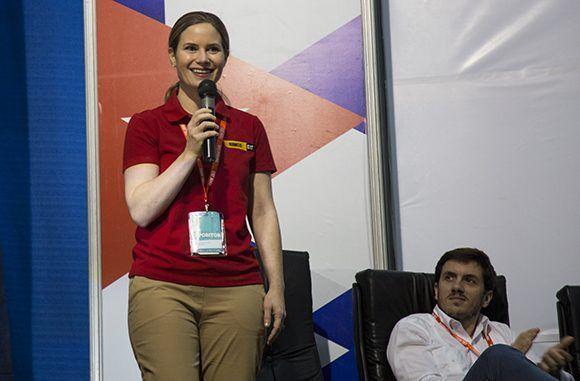 Caroline McConnie, vicepresidenta ejecutiva de Rimco, distribuidora para Puerto Rico y el Caribe de equipos Carterpillar. Foto: Irene Pérez/ Cubadebate.