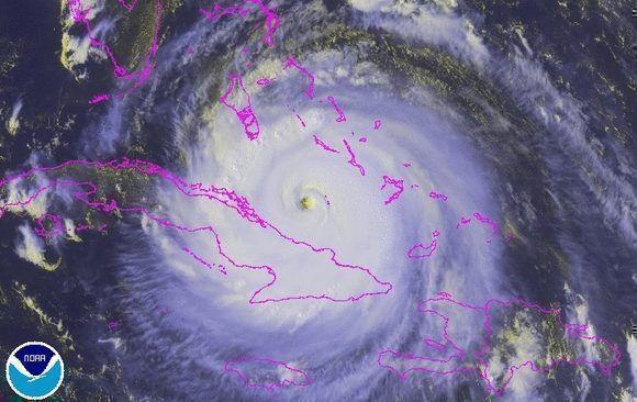 El huracán Irma fue el evento meteorológico más notable del año. Imagen: NOAA, 8 de septiembre.