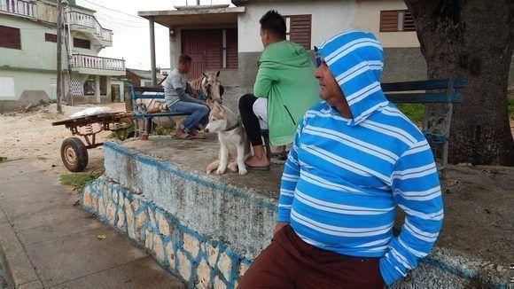 En la parte alta del pueblo se siente el rigor del viento y el frío. Gibara, Holguín, Cuba. Foto: Danier Ernesto González, 11 de diciembre.