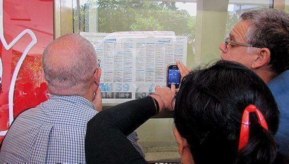 La cartelera estaba expuesta en todos los cines. Foto: Cinthya García Casañas/ Cubadebate.