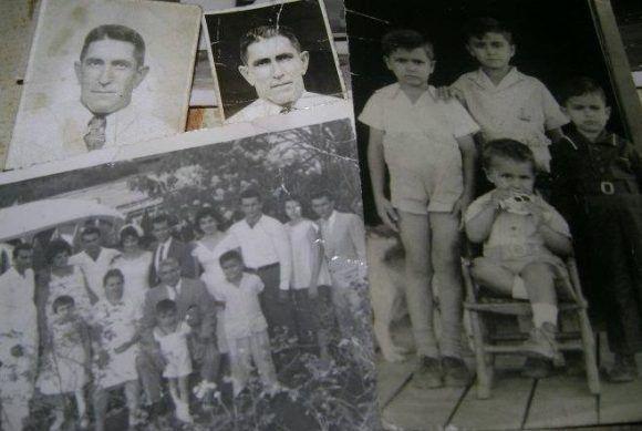 Las fotos del abuelo español Constantino; María Luisa, la abuela cubana y sus cinco hijos