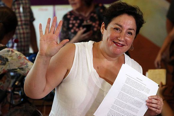 Beatriz Sanchez de exito extraordinaria con el Frente Amplio en la primera vuelta. Foto: EFE.