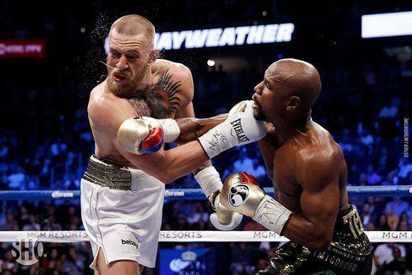 "Mayweather venció a McGregor en ""el combate del siglo"". Foto: Showtime."