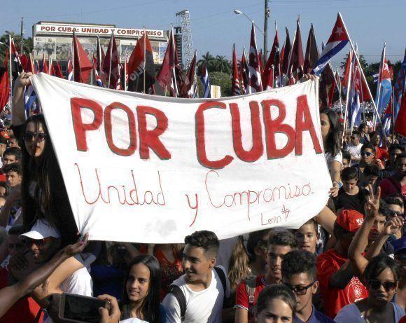 """Por Cuba"". Foto: Jorge Luis Sánchez/ Cubadebate."
