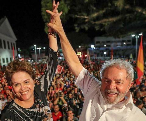 "Dilma Rousseff y Luiz Inácio ""Lula"" da Silva. Foto: @LulapeloBrasil"