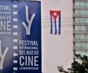 Cartel del Festival Internacional del Nuevo Cine Latinoamericano en su edición 39. Foto: Omara García/ ACN.