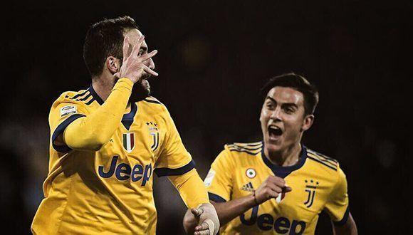Higuaín y Dybala, protagonistas en el triunfo de la Juve sobre Napoli. Foto: @PauDybala_JR.