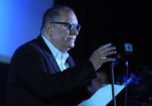 El cineasta Iván Giroud, Presidente del Festival Internacional del Nuevo Cine Latinoamericano. Foto: Omara García/ ACN.