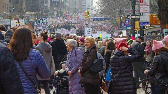 La Marcha de las Mujeres es la manifestación más grande (en un solo día) de la historia de los EE.UU. Foto: Getty Images.