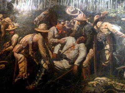 Muerte de Maceo, pintura de Armando García Menocal.