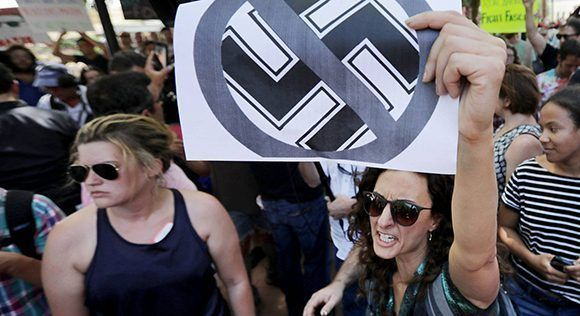 Manifestación antifascista en Charlottesville, en el Estado de Virginia. Foto: Chip Somodevilla/ AFP.