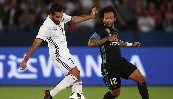 Imagen del partido por la clasificación al Mundial de Clubes entre el Real Madrid y el Al Jazira. Foto: @realmadrid/Twitter