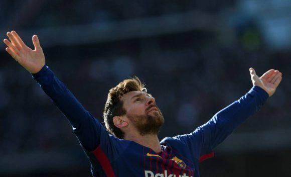 Así celebró Messi el segundo gol del Barcelona ante el Real Madrid. Foto: Agencias.