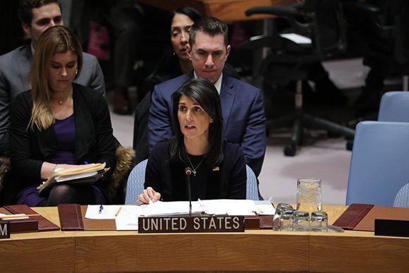 Las decisiones de la administración Trump aislan aún más a Nikki Haley en la ONU. Foto: @USUN/ Twitter.