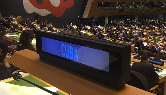 Representación de Cuba en las Naciones Unidas. Foto: @CubaMINREX/ Twitter