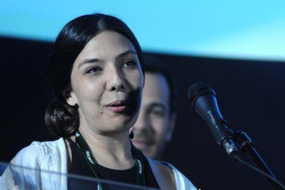 Entrega del Premio Coral Especial del Jurado, en el apartado de Ópera Prima, a Matar a Jesús, de Laura Mora, de Colombia.  Foto: Omara García/ ACN.