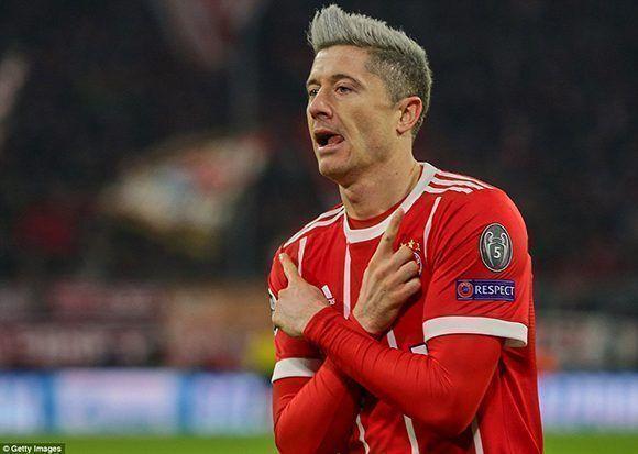 Lewandowski marcó el otro gol del Bayern en la victoria 3-1 sobre el PSG. Foto: Getty Images.