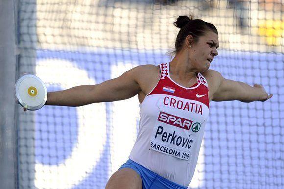 Sandra Perkovic mantuvo su reinado en 2017. Foto: AFP.