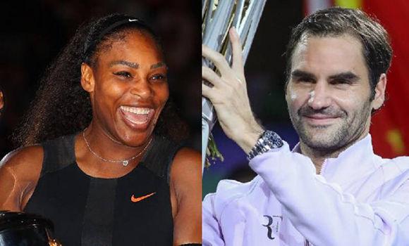 Serena Williams y Roger Federer, los mejores atletas del 2017