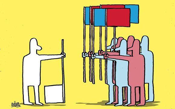 El apoliticismo. Ilustración: Alfredo Martirena