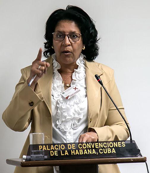 La directora de Relaciones Internacionales del INDER, Martha Lidia Ruiz. Foto: Roberto Morejón.