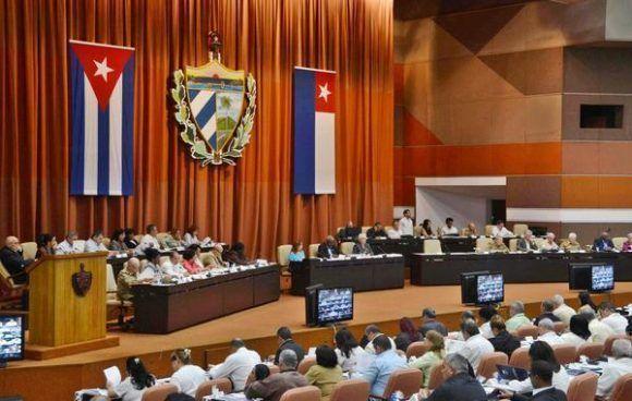 Sesión plenaria del Décimo Período Ordinario de Sesiones de la Asamblea Nacional del Poder Popular, en su VIII Legislatura. Foto: Marcelino Vázquez/ ACN.
