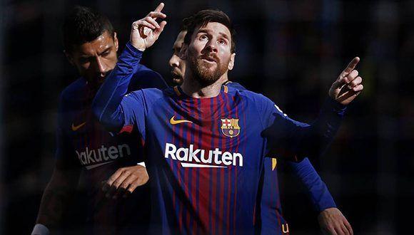Messi celebra su gol ante el Celta. Foto: Manu Fernández / AP