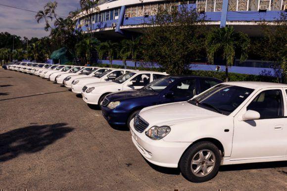 Un grupo de autos Geely fueron entregados a destacados deportistas cubanos. Foto: Calixto N. Llanes/Periódico JIT (Cuba)