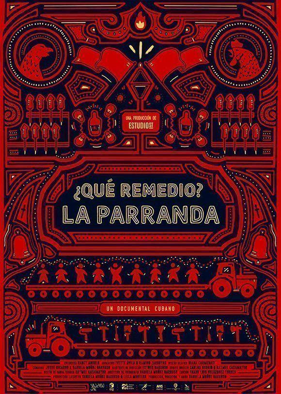 """Cartel ganador del Coral 2017: """"¿Qué Remedio? La Parranda"""" (Cuba) Diana Carmenate."""
