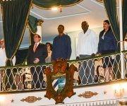 Asiste Esteban Lazo Hernández (CD), miembro del Buró Político del PCC y presidente de la Asamblea Nacional del Poder Popular, junto a otros dirigentes del partido y el gobierno, a la Gala por el  aniversario 45 del establecimiento de las relaciones de Cuba-CARICOM, en el Teatro Martí, en La Habana, el 6 de diciembre de 2017. ACN FOTO/Marcelino VAZQUEZ HERNANDEZ