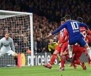 Hazard marcó el gol del Chelsea ante el Atlético en Londres. Foto: EPA.