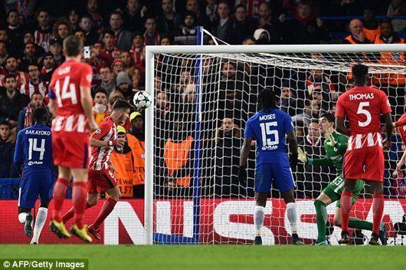 Saúl empató para el Atlético. Foto: AFP.