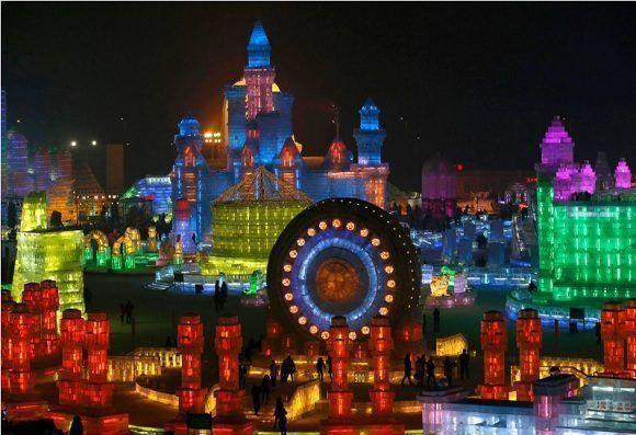 Festival de esculturas de hielo y nieve de Harbin. Foto: Kim Kyung-Hoon/Reuters