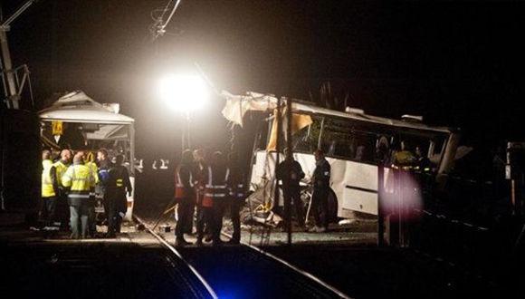 En el autobús viajaban al menos 20 estudiantes de un instituto de la comuna francesa de Millas. Foto: EFE