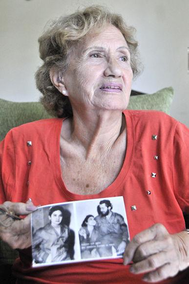 Juana Bautista de la Concepción Ramírez Figueredo (Conchita), excombatiente del Ejército Rebelde, en entrevista exclusiva a la Agencia Cubana de Noticias (ACN), en La Habana, Cuba, el 30 de noviembre de 2017. ACN FOTO/Madelin RAMÍREZ PÉREZ