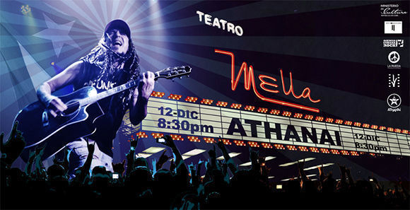 ATHANAI en concierto único en el Teatro Mella el día 12 de diciembre a las 8:30PM con invitados Haydée Milanés, Kelvis Ochoa, Adrián Berazaín, Jorgito Kamankola y Carlos Varela.