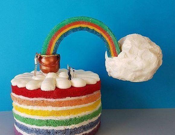 El chef italiano, Matteo Stucchi, hace esculturas con sus dulces. Foto: @idolcidigulliver/ Instagram.