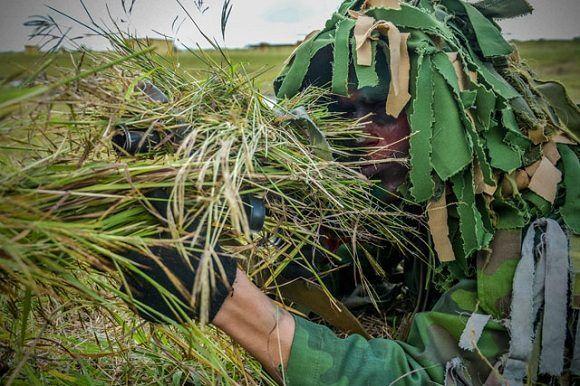 Actividades de preparación combativas en unidades militares del Ejército Oriental en saludo al Aniversario 61 de las Fuerzas Armadas Revolucionarias (FAR). Foto: Juan Pablo Carreras/ACN.