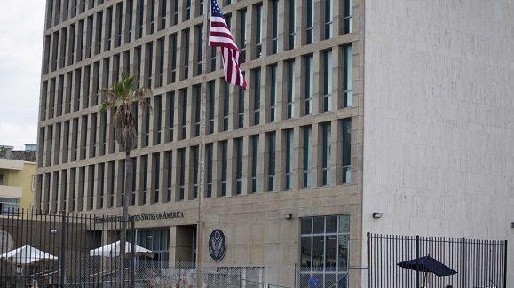 Embajada de Estados Unidos en La Habana. Foto: Desmond Boylan/AP.