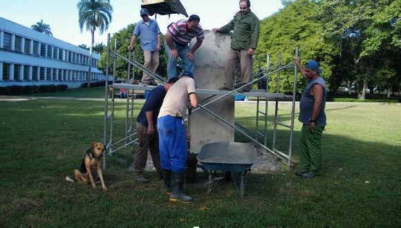 Emplazamiento de la escultura de Marta Abreu en la UCLV. Foto: Horizontes
