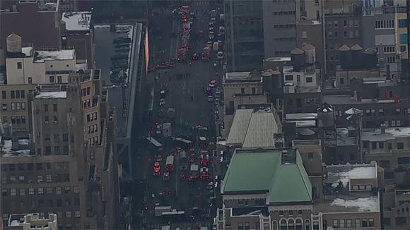 El estallido se produjo alrededor de las 7:45 a.m. en las cercanías de la estación de autobuses de Port Authority y del túnel que conecta con el metro. Foto: NBC.