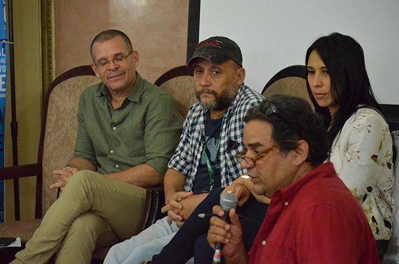 Conferencia de prensa sobre la película Sergio Serguéi en el Hotel Nacional. Foto: Habana Film Festival/ Facebook.